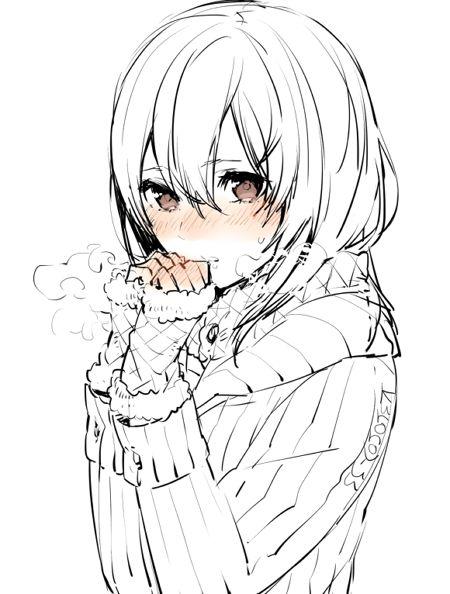 Простые картинки аниме для срисовки - Эскизы женской фигуры дизайн карандашом.