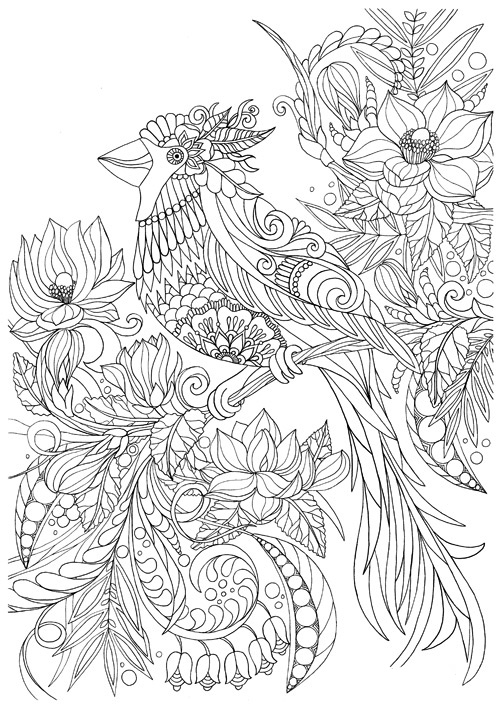 complex coloring pages nature cat - photo#40