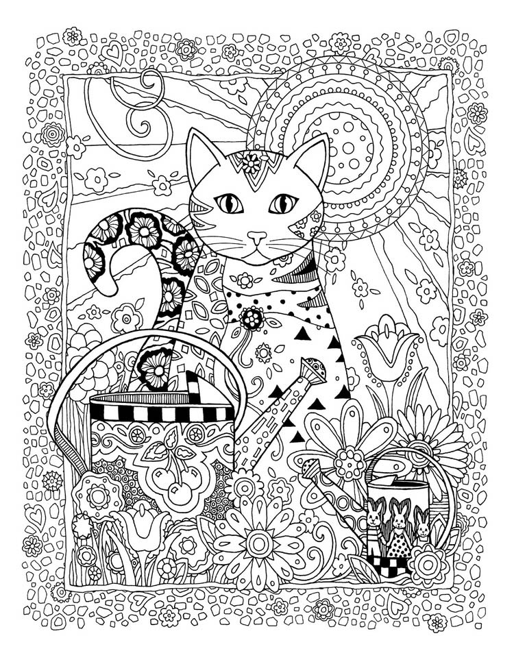 art therapy coloring pages cat - photo#10