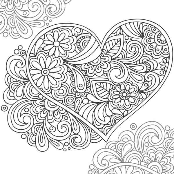 Henna Hand Coloring Pages