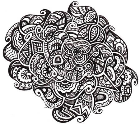 картинки для срисовки черно-белые