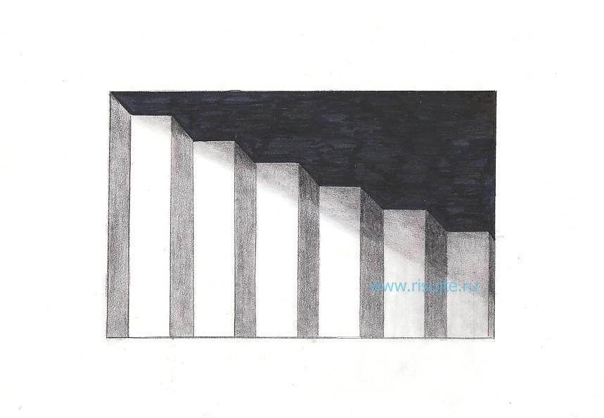 09.Как нарисовать 3d рисунок на бумаге