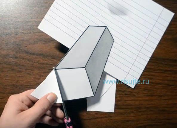 07.Как нарисовать 3д рисунок поэтапный урок
