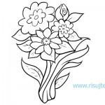 Как нарисовать букет цветов поэтапно