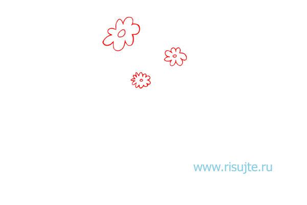 02.Как нарисовать букет цветов поэтапно