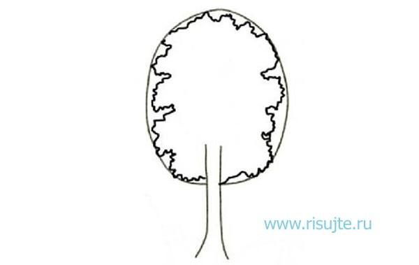 03.Как нарисовать дерево поэтапно – урок для начинающих