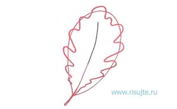 03.Как рисовать листья деревьев