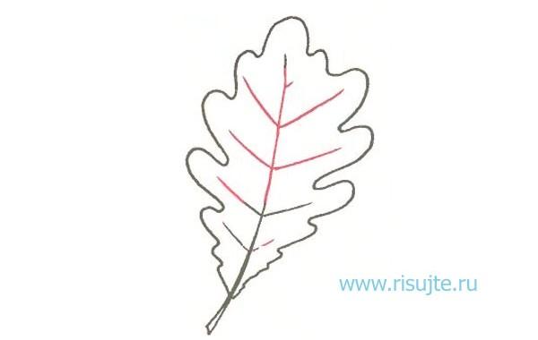 04.Как рисовать листья деревьев