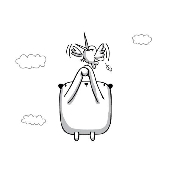 02.Картинки для лд черно белые: интересные рисунки