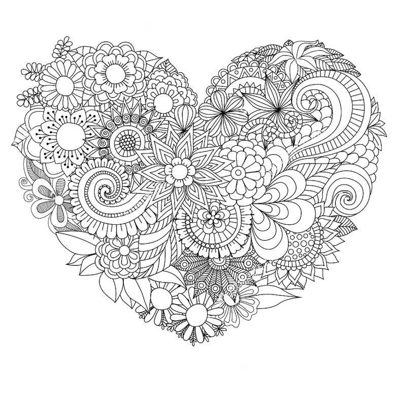 Раскраска рисунки цветы