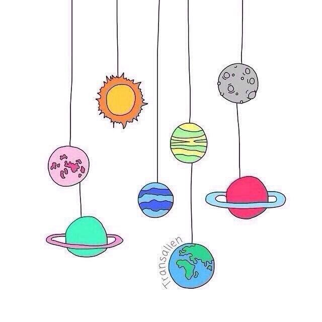 картинки про космос для срисовки