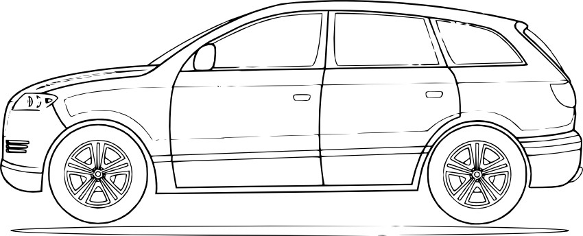 Раскраска машины легкие