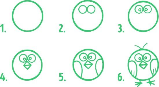 01.Поэтапное рисование для детей простые поэтапные рисунки