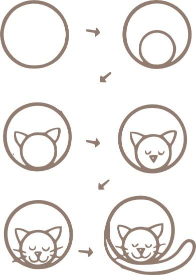 Рисуем котенка поэтапно с детьми