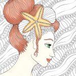 Раскраски антистресс девушки