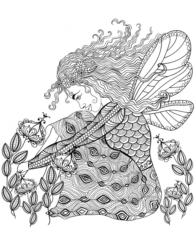 anti stress coloring pages advanced - photo#29