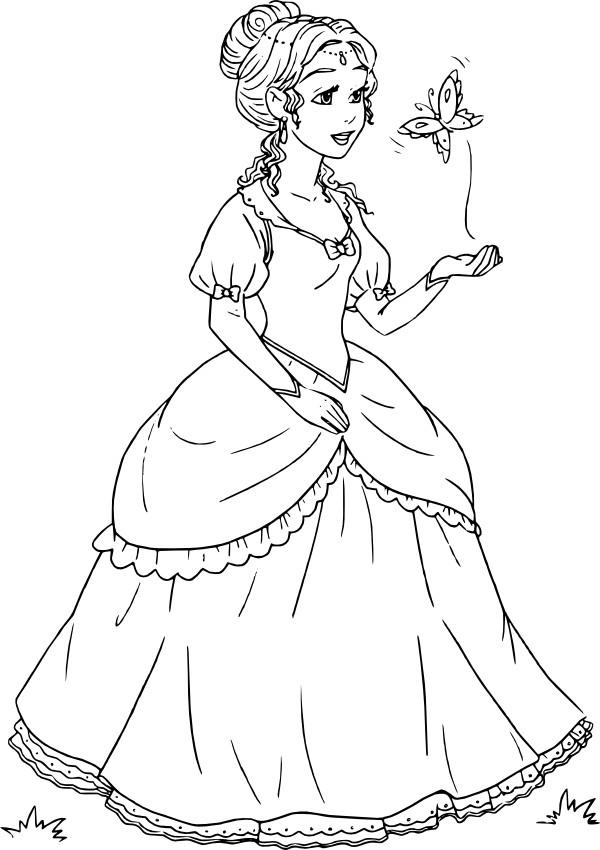 Раскраски принцесс картинки 11