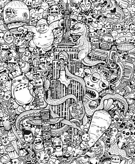 02.Зентангл и дудлинг: главные отличия техник рисования