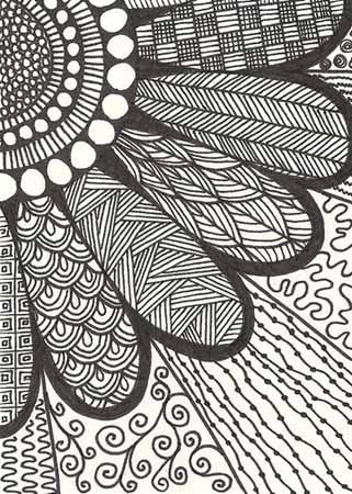 10.Зентангл картинки: рисунки в технике зентангл