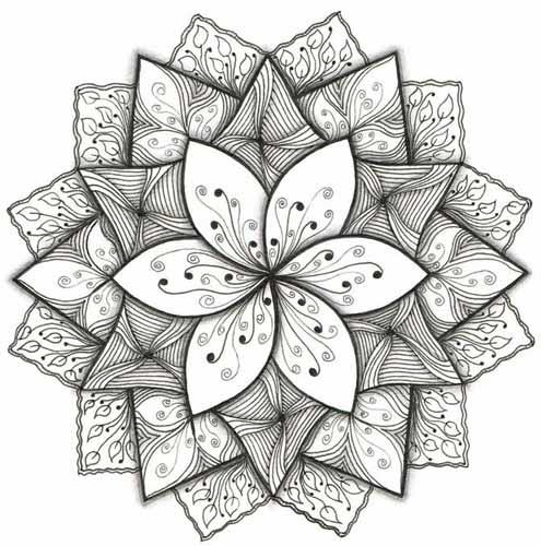 09.Зентангл картинки: рисунки в технике зентангл