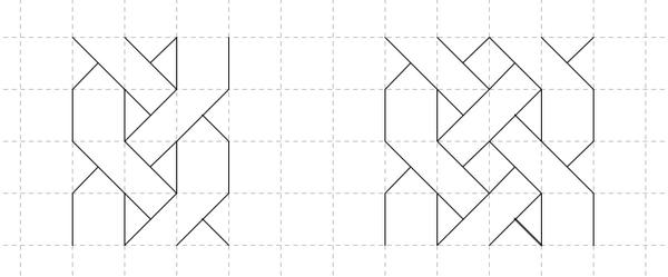 01.Как нарисовать косичку по клеточкам