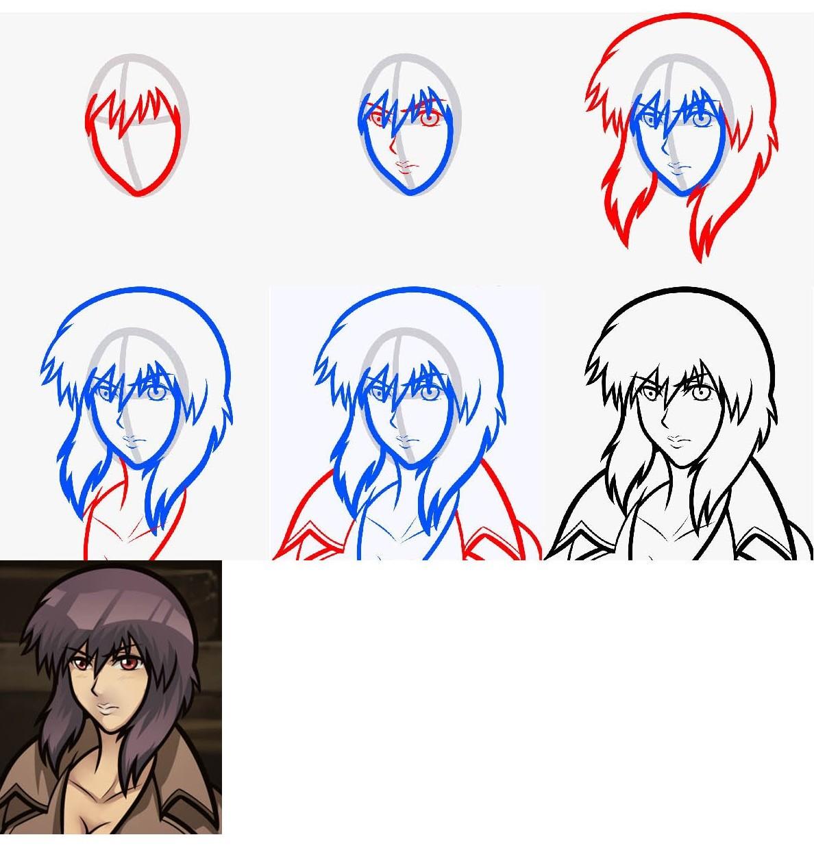 Как поэтапно рисовать девочку карандашом поэтапно
