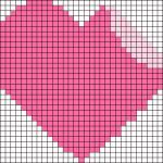 Рисунки по клеточкам сердечки